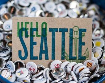 Hello Seattle Postcard