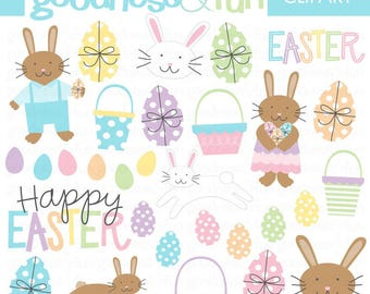 Buy 2, Get 1 FREE - Sweet Easter Clipart - Digital Easter Clipart - Instant Download