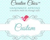 Custom Listing for Greer - 2 Classic Bib Aprons in Designer Fabrics with Personalized Embroidery