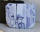 Fernando Pessoa  coins   purse, crafts  , handmade,Claudia Candeias, ready to ship