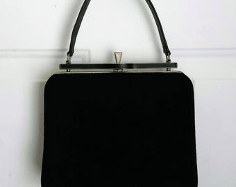 Vintage A Miss America by Smartaire Handbag, Black, 1960's, Women's Ladies Fashion, Mid Century Fashion, Props