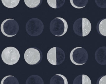 Dear Stella - Moon Garden Collection - Moon Phases in Navy