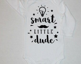 baby boys funny bodysuit, take home outfit, hospital outfit, coming home outfit boy, new baby gift boy, smart little dude,