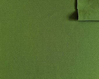 """Vintage Fabric 70's Olive Green, Polyester, Textiles (62""""x25 1/2"""")"""