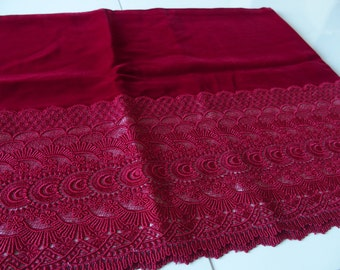 Shawl Kimono Outfit Japanese Wafuku Accessory Scarf Dark Red Burgundy