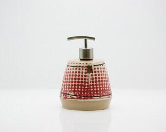 Soap Dispenser - Bath soap dispenser - ceramic soap dispenser - bathroom decor - lotion dispenser - kitchen dispenser - housewarming gift