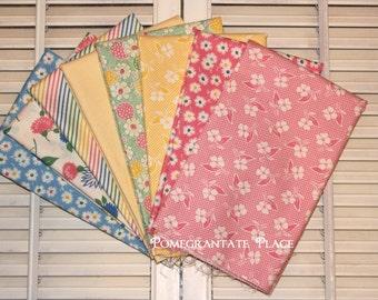 SALE!!! American Jane... FRESH AIR .. Moda fabrics.. 8 fat quarter bundle ...  Pastel Palette  Pink, Green, Blue, Yellow