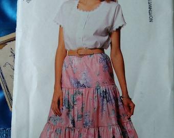 See&Sew Butterick 6400 skirt size 6-14 womens