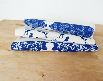 hand printed textile home goods by thehighfiber on etsy. Black Bedroom Furniture Sets. Home Design Ideas