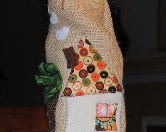 Funky burlap wine bottle bags made to order