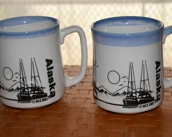 ALASKA Collectible Coffee Mugs Set of 2 by ACE 1982