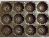 12 Cup Muffin Tin, Fluted Muffin Tin, Crafting Organizer Tin, Drawer Organizer, Display On Wall, 13 1/2 x 10 1/8 x 1 D, Jewelry Organizer