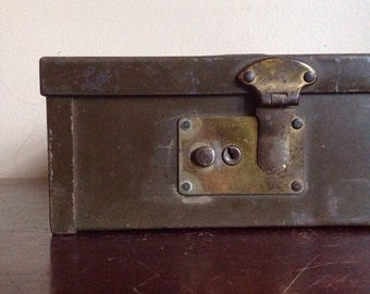 Holiday Sale. Vintage Industrial Protecto Security Box.