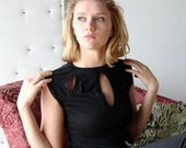womens a-line dress with keyhole neckline - wool blend womens lounge wear lingerie and sleepwear range - MALLARD - made to order