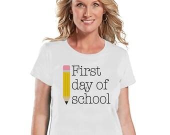 Funny Teacher Shirt - First Day of School Shirt - Teacher Gift - Teacher Appreciation Gift - Teacher Appreciation - Gift for Teacher - White
