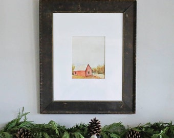 Vintage Watercolor in Wood Frame (pick up only)