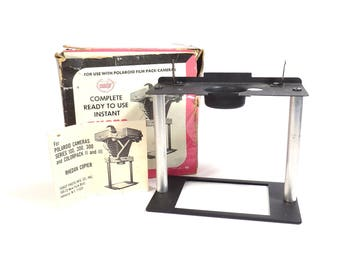 Coastar Polaroid Camera Photo Copier Vintage 1960s 1970s Rhedan Copier for Polaroid Cameras