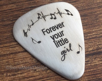 Forever Your Little Girl Guitar Pick Father of the Bride Gift Dad Gift Parent Gift for Parent Wedding Day Gift  My Little Girl Gift