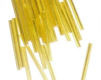 Bugle Beads- Lemon Yellow