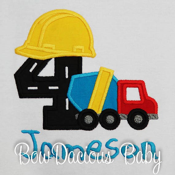 Boys Cement Truck Birthday T Shirt Or