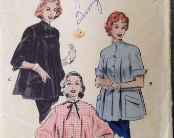 Vintage 50s Maternity Smock Blouse Pattern 32 bust xs