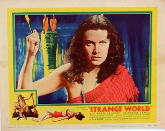 STRANGE WORLD, Strange Lobby Cards, 1952