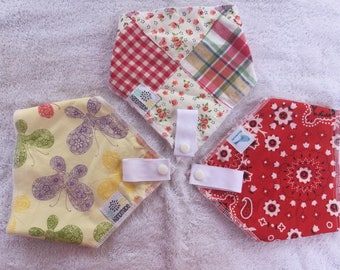 BinkBib: The bib that keeps Binky handy and Kids clean! Trifecta Of Cute Prints (set of three) (SM/NQP)