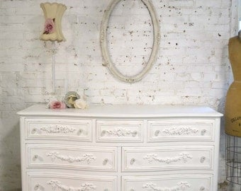 Painted Cottage Chic Shabby French Dresser DR881