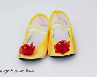 Princess Beauty Play Slippers (Sizes 1 - 12) MEASURE your child's foot PLEASE
