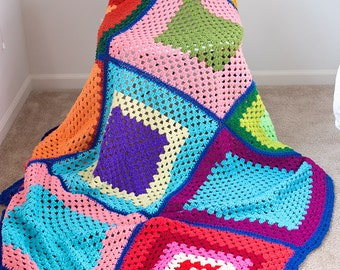 SALE - Bright and Bold Knit Blanket