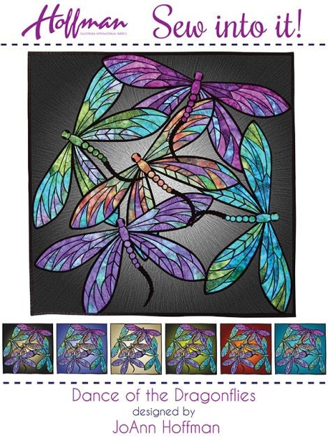 Hoffman Dance Of The Dragonflies Precut Fabric Quilt Kit