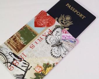 RFID Alum-Block Passport Sleeve Cover, Passport Protection, Stylish Fabric RFID Passport Holder, Nickel Free, RFID Shielding Aluminum Lining