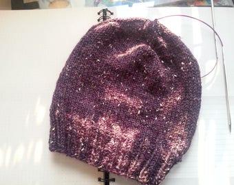 RESERVED** - Plum Purple Heathered Universe Hat