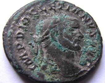 ANCIENT ROMAN COIN rare Grade Diocletian Roman emperor 283-305 Ad Large Follis bronze Coin