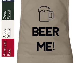 BEER ME Grilling Apron Funny Humor Featherlite 6013 Cooking Apron