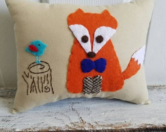Little Fox Woodland Themed Tooth Fairy Pillow