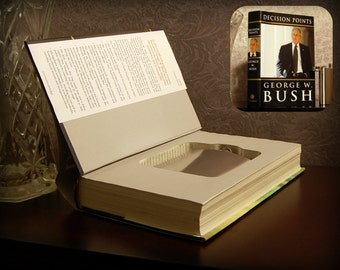 Hollow Book Safe & Flask (George W. Bush Decision Points)