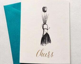 Cheers Vintage Gocco Greeting Card