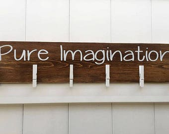 Child's Art Display // Masterpieces // Art Work Display // Kid Wall Art // Art Display // Personalized Kid Signs // Pure Imagination