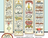 50% OFF SALE Luke 1-4 Bible Bookmarks Bible Journaling Tags INSTANT Download Scripture Digital Printable Download Christian Religious