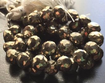 Golden pyrite onion briolettes (No. 1569)