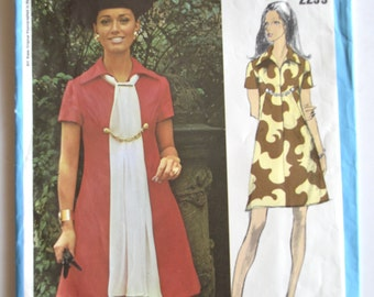 Vogue Americana 2299 Bill Blass Misses One Piece Dress Sewing Pattern Size 14 UNCUT
