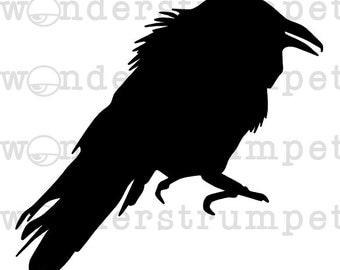 Attempted Murder Part 3: Ruffled Crow Stencil