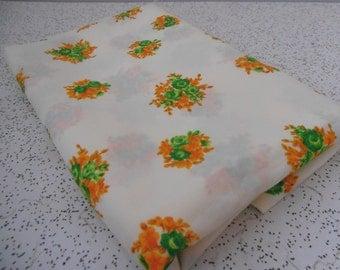 posy...vintage polyester crepe yardage