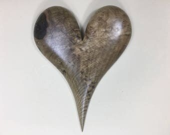 50th Anniversary gift wood heart art wall hanging Wedding present