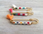 Gold Filled Safety Pin with Miyuki Beads
