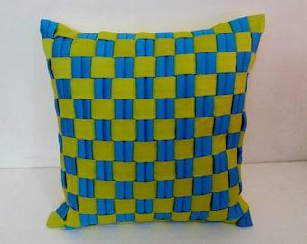 modern blue pillow and green plaided pillow cover,christmas throw pillow,decorative pillow,outdoor pillow,farmhouse pillow