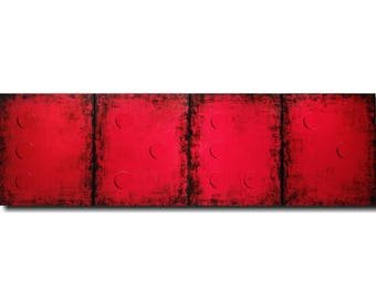 Original Large  abstract Braille painting - 20 X 64 Inches-by Artist JMJartstudio- LOVE -Wall art- Custom-