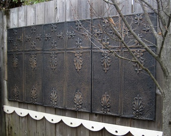 Headboard King Size.  3) Antique Tin Ceiling Tiles. Large Wall Art.  3' x 6'. Architectural salvage. Huge Magnet Boards. Backdrop.
