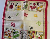 Vintage Collectible Hankie - Chilld's Counting Handkerchief